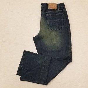 Diesel dark blue green wash men's jeans size XXL